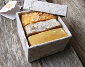 Gift Soap Set - vegan soap, handmade soap, cold process soap, handmade paper