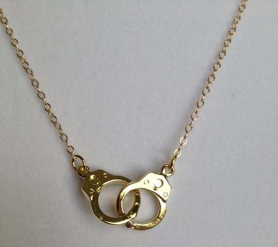 14k Gold 16 Handcuff Necklace Miley Cyrus By