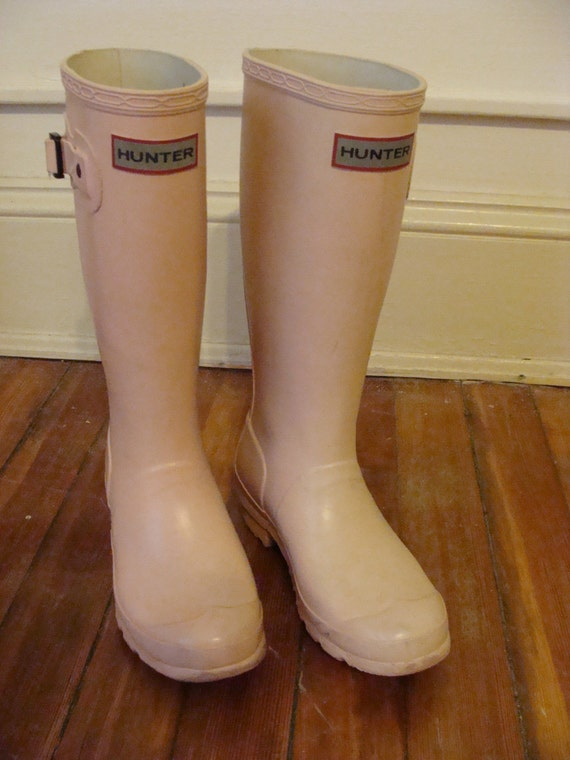 Precious Pair of Vintage Hunter Pale Pink KIDS Wellies Girls