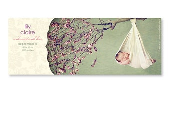 Facebook Timeline Cover - Birth Announcement - 1009