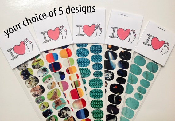 Nail Decal Gift Set of Five