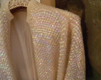 Vintage Iridescent Raglan Sleeve Sweater