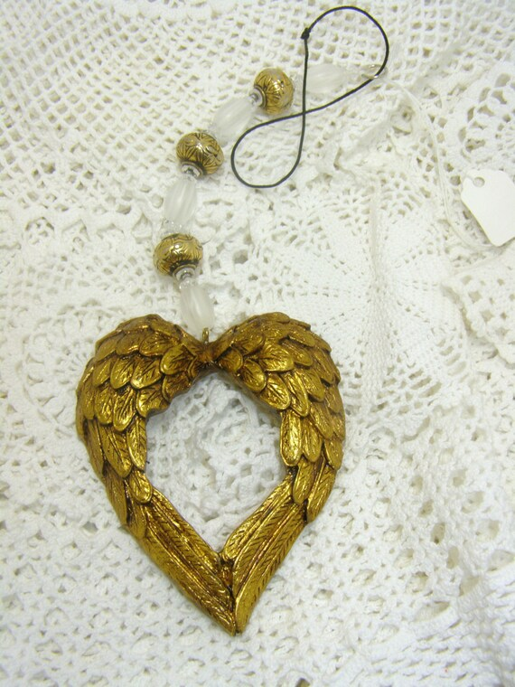 Golden Angel Wings Rear View Mirror Accessory By