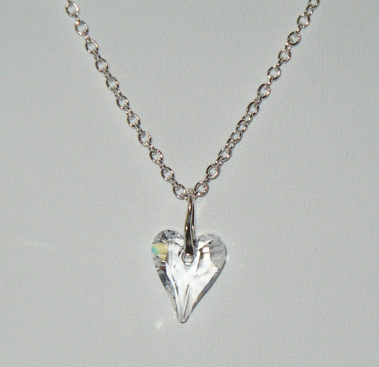 swarovski crystal wild heart pendant necklace on by. Black Bedroom Furniture Sets. Home Design Ideas