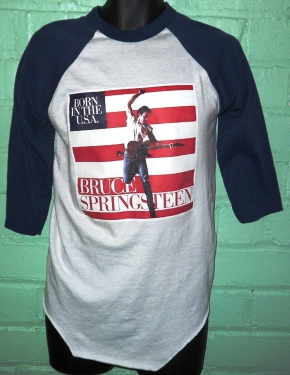 Vintage Bruce Springsteen T Shirt Born In The Usa Shirt