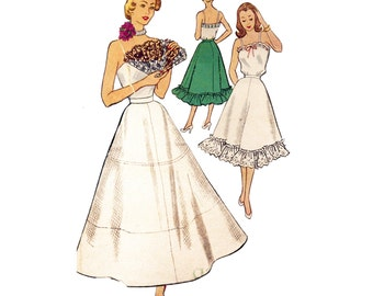 1950s Petticoat & Camisole - Vintage Sewing Pattern -32 Bust - McCall's 8728