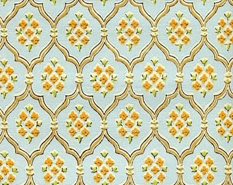 Vintage Wallpaper - Blue Diamonds - By the Yard