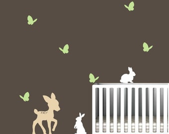 Nursery Decal with Forest Animals