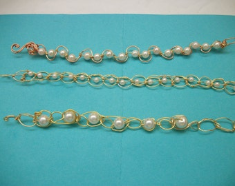 Three Wire Weaving Handmade Wire Bracelet Wire Wrapped Jewelry Wire Weaving Wedding