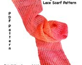 Beginners Luck Lace Scarf Pattern  - Easy Knitting Instant Download PDF - How to Knit Beginners Pattern