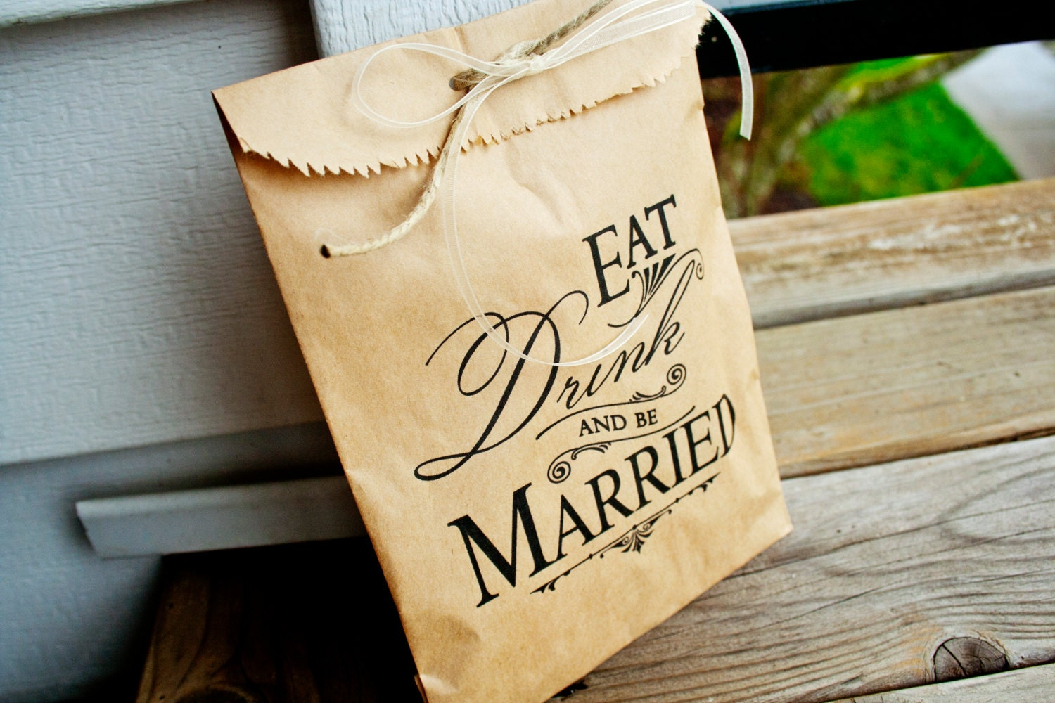 Wedding Favor Bags For Candy : Wedding Favor Bag Kraft Paper Favor Bags Wedding Candy