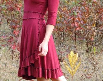 Sasha ~ Ruffled Dress ~ Bamboo & Organic Cotton ~ Made to Order