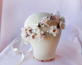 flower crown wedding, bridal headpiece, ivory flower crown, floral crown, wedding headpiece, bridal flower crown, bridal headband, hairpiece