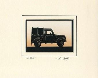 Landrover (Defender) Hand-Cut Papercut