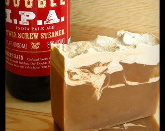 BEER SOAP Honey Ale, Gift for Husband Dad Father's Day Birthday, Oatmeal Soap with beer, Gift for Boyfriend, Gift for Him, Men's Grooming
