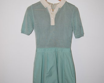Vintage 1970s Teal CIAO LTD Dress
