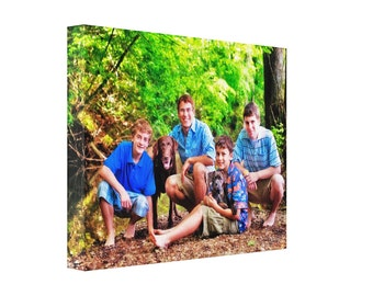 Personalized Photo Canvas Print 11x14
