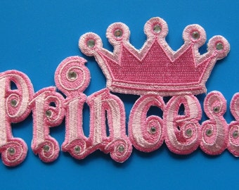 Iron-on Embroidered Patch My Princess 4.9 inch