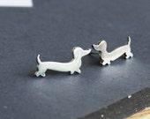 Dachshund Earrings Doxie Studs Wiener Dog Jewelry Daschund Studs Sausauge Dog Love