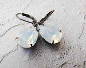 Vintage Bridal Earrings Crystal Bridal Jewelry Opal Earrings Wedding Jewelry Swarovski Bridal Earrings Bridesmaid Gift
