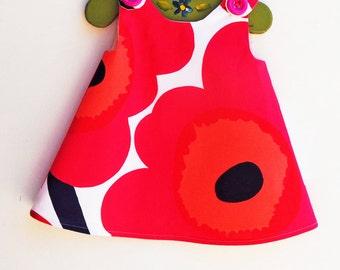 Last One - Marimekko Dress - Baby Shower - Speical Occasions - Princess Dress - Handmade Childrens Fashion - 12M only