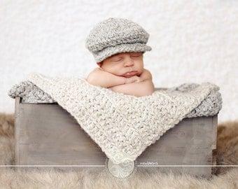 Baby Boy Hat 10 Colors Irish Donegal Cap Newborn Baby Hat Ireland Donegal Hat Newborn Photography Prop Newborn Photo Prop Baby Boy Newsboy