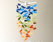 Fish Mobile/chandelier /CHOOSE YOUR 3 COLORS / Handmade Made to order