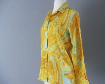 60s Phil Rose of California Fun Collection Vintage Blouse