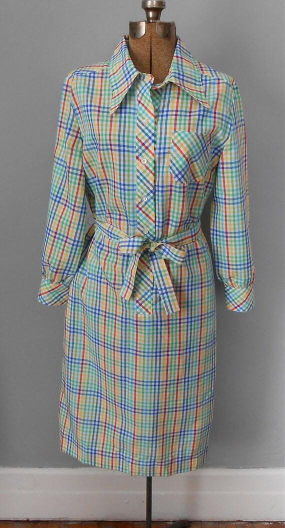 Shirtdress Vintage Women's XL Plus Size Clothing Rainbow - photo #44