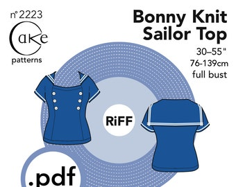 pdf Bonny Knit Sailor Top Cake Patterns RiFF Nº2223