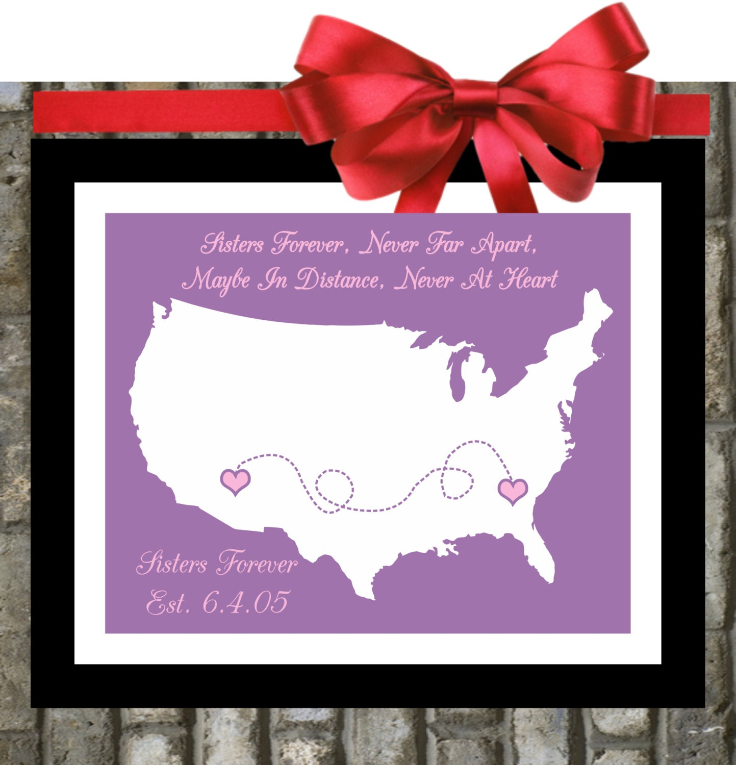 Gift For Sister Birthday Quote Personalized By Printsinspired