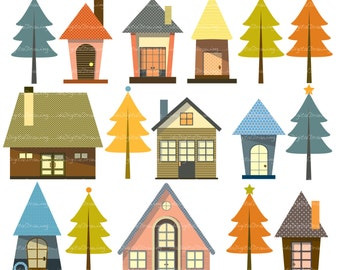 New Home Clip Art - high resolution - Personal and Commercial Use