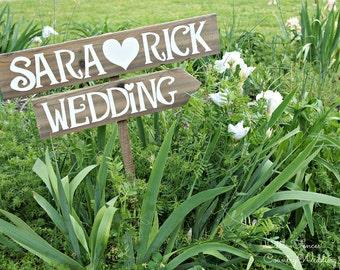 Rustic Wedding Signage, Rustic Wedding Sign, Woodland Wedding Decor, Wedding Signage, Rustic Wedding Decor, Custom Signage, Beach Arrow Sign