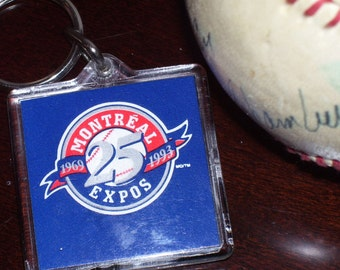 MONTREAL EXPOS 25th Anniversary Key Fob and Pin 1993