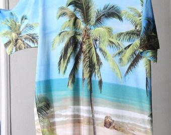 Beach Scene Photo Print All Over Printing T-Shirt