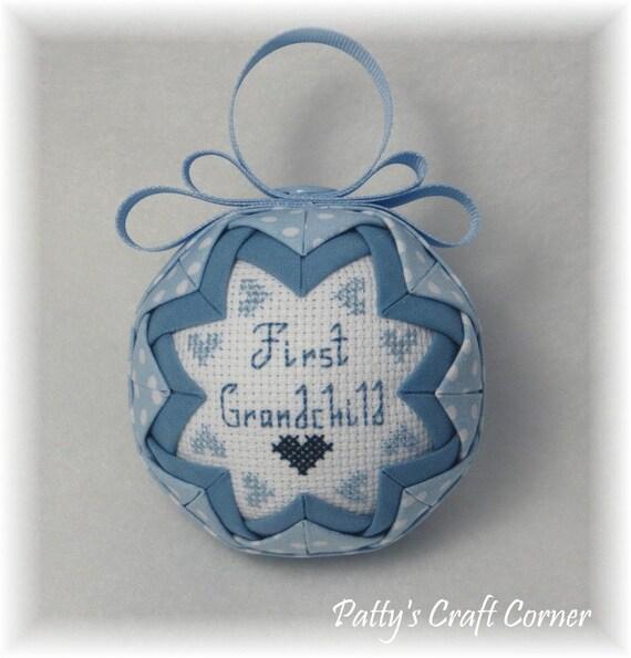 Quilted Keepsake - First Grandchild (Boy) Ornament
