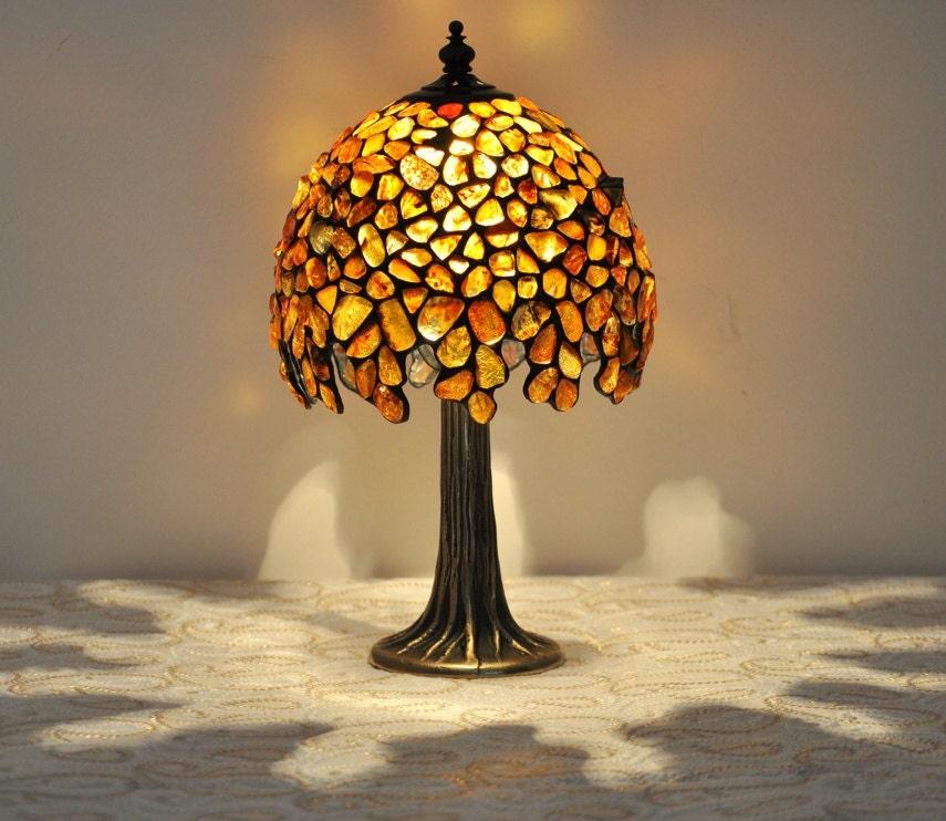 Amber Ball Lamp Table Lamp 7 Lampshade Made Of