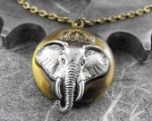 Royal Buddhist Elephant Locket Necklace - The Noble Elephant by COGnitive Creations