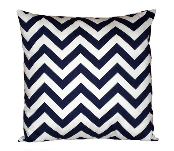 Decorative Pillow Cover for Sofa Navy Throw Pillow by HomeMakeOver