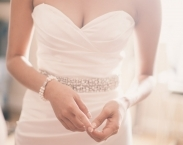 Bridal Couture Rhinestone Wedding Gown Sash Belt