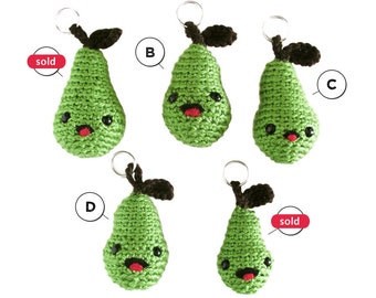Pear Keychains - Choose your favorite one