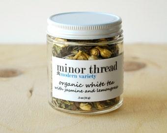 Organic White Tea with Jasmine and Lemongrass Herbal Tea Blend