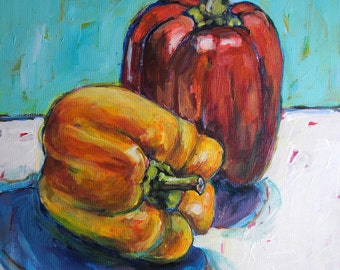 Peppers. Original Still Life Painting.