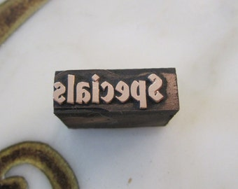 Vintage Letterpress Printers Block Specials