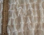 """2"""" Ecru Ruffle Fabric Yardage"""