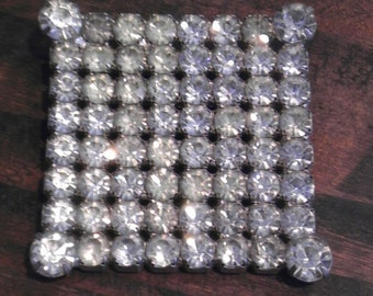 Brilliant Diamond Cube- Rhinestone Brooch