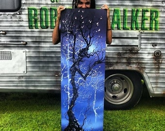RW2 Hand painted embellished Tree Canvas print The Dance  by Robert Walker VERY Limited Edition