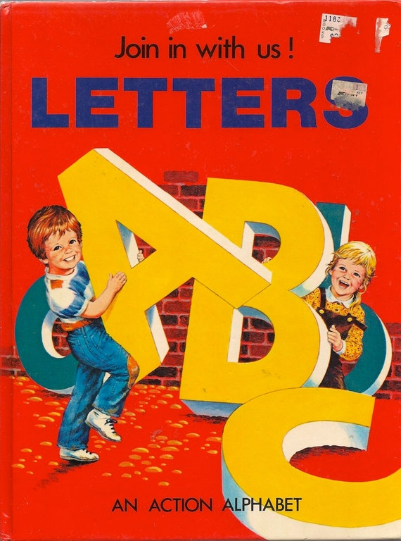 Join In With Us Letters ABC An Action Alphabet - Karen O'Callaghan - Eric Rowe - 1982 - Vintage Kids Book