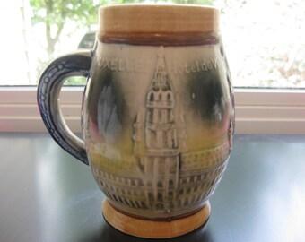SALE>>> Vintage Souvenir Mug from Bruxelles, Belgium with the Mannekin Pis and Hotel de Ville