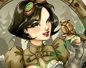 Fairest of them All Snow White (Sepia) Art Print